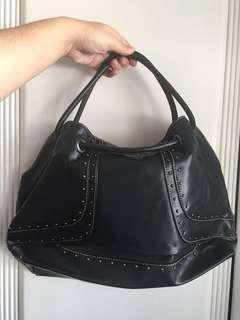 Original Nine West Genuine Leather Black Bag