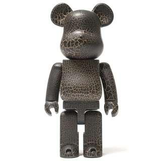 Medicom Bearbrick 400% Crack Paint wood wooden 木 烈紋木