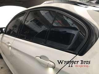 Bmw window trim dechrome