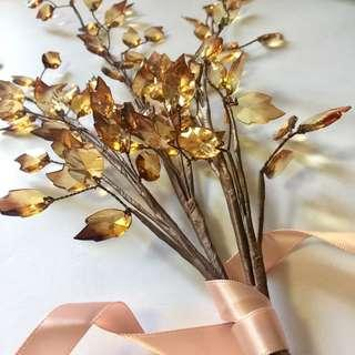 Home Deco Beaded Flower Leaf Plant 家居 裝飾