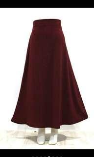 Rok Tebal Glitter Moscrepe Premium/Panjang Wanita