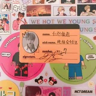 NCT DREAM Renjun Crew Card