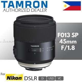 Tamron F013 SP 45mm f/1.8 Di VC USD Prime Lens for Nikon F