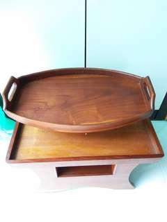 Vintage Wooden Serving Tray in good condition