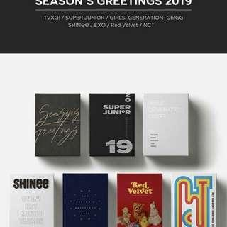 (NONPROFIT) [11st STREET] EXO & SM ARTIST 2019 SEASON GREETINGS GROUP ORDER