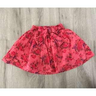 Red Floral Baby Skirt