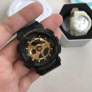 G-Shock BA110-1A (black & gold)