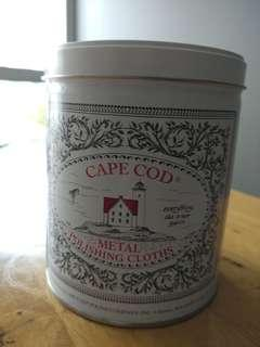 Cape Cod Metal polishing polish cloth tin