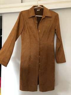 Vintage Bardot suede coat
