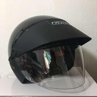 GPR Metallic Black/ Solid Black Helmet