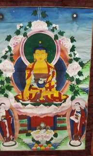 Vintage Tibetan Thangka Painting