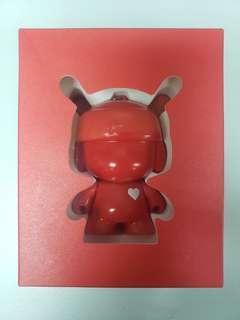 全新小米4周年米兔紀念版紅色公仔