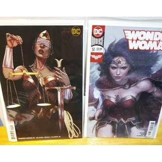 Wonder Woman #51 Artgerm and Frison Variant covers NM
