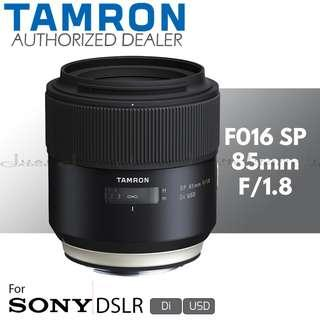 Tamron F016 SP 85mm f/1.8 Di USD Prime Lens for Sony EF