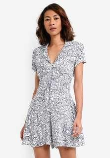 Woven Hazel Short Sleeve Button Up Playsuit