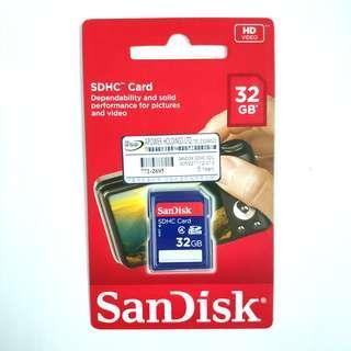 全新行貨 SanDisk SDHC 32GB Memory Card Class4 32G 32GB 記憶卡