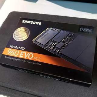 Samsung 500GB 960 EVO nvme SSD Pcie Gen3 x4 m.2