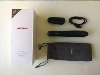 Cordless mini travel straightening iron