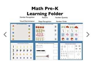 Jady a math pre-k learning folder