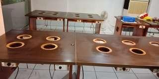 電磁爐桌約有十桌用不到便宜賣要自己載喔