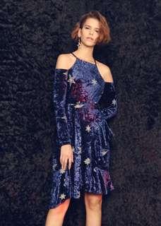 Soeurs Midnight Stars Velvet Dress