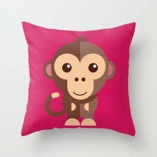 🚚 MONKEY Throw Pillow Cushion Cover