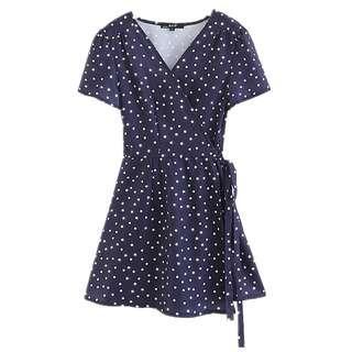 [PO] Polo Polka Wrap Dress