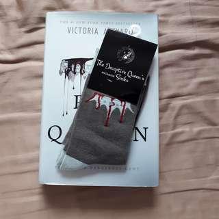 [fairyloot oct ] red queen exclusive socks