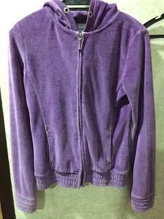 Purple Velvet Hoodie/Sweater