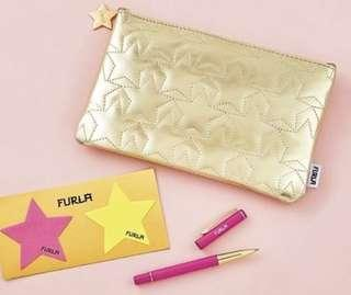 Japan magazine free gifts set furla Star pouch, pen and post it notepad