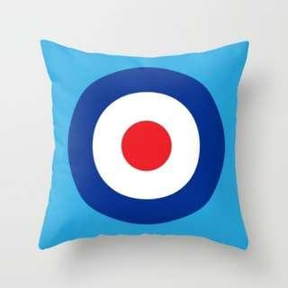 🚚 MOD Patterned on Blue Throw Pillow Cushion Cover