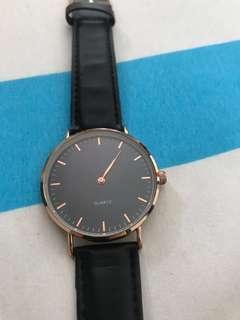 Klark Wrist Classy Gold and Black watch