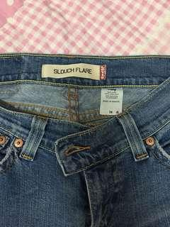 Slouch flare jeans