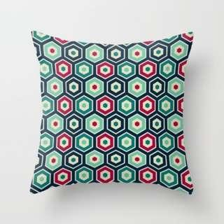 🚚 Hexagon Patterned Throw Pillow Cushion Cover