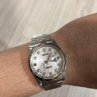 Rolex 16234 with big diamonds & computer dial