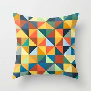 🚚 Fancy Coloured Pattern Throw Pillow Cushion Cover