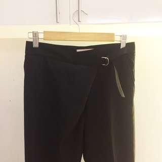 Black Pants / Trousers with detail