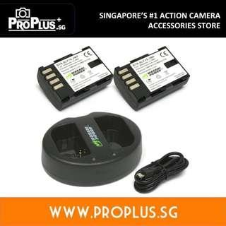 Wasabi Power Battery (2-Pack) and Dual Charger for Panasonic DMW-BLF19 and Panasonic Lumix DMC-GH3, DMC-GH4, DC-GH5
