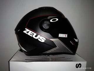 Helm Zeus Black Dof Mulus
