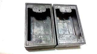 開關插座明裝底盒//安全鑄鋁接線盒//户內外防水防爆//美式工業風