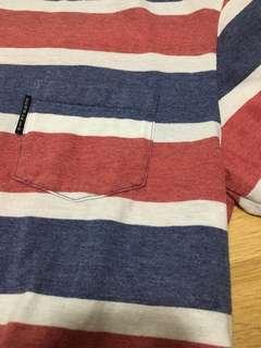 Vintage striped oversized  top