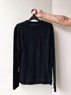 H&M Basic Sports Sweater in Black