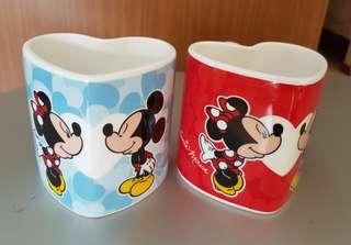 Tokyo Disney Mickey and Minnie couple Mug-set of 2