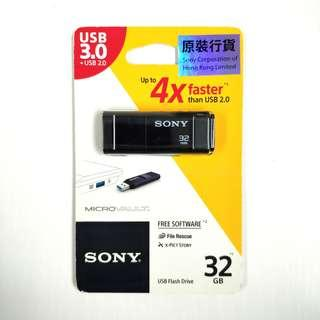 全新行貨 SONY 32GB USB 3.0 Flash Drive Micro VAULT Click 32 GB 手指