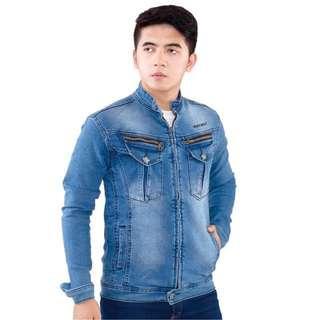 Jaket Denim Jeans Stretch Distro Model Terbaru INFICLO