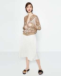 Zara inspired pleated bomber jacket