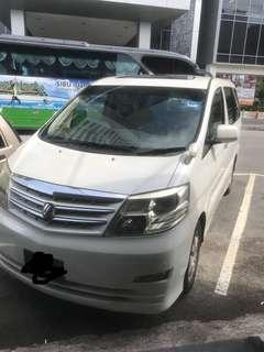Toyota alphard sunroof