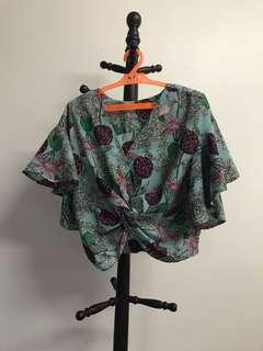 Floral Knotted Blouse