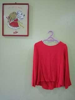 DEES Fishtail Red blouse