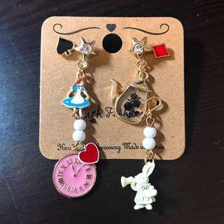 韓國耳環 愛麗絲夢遊仙境 | Alice in Wonderland Earrings